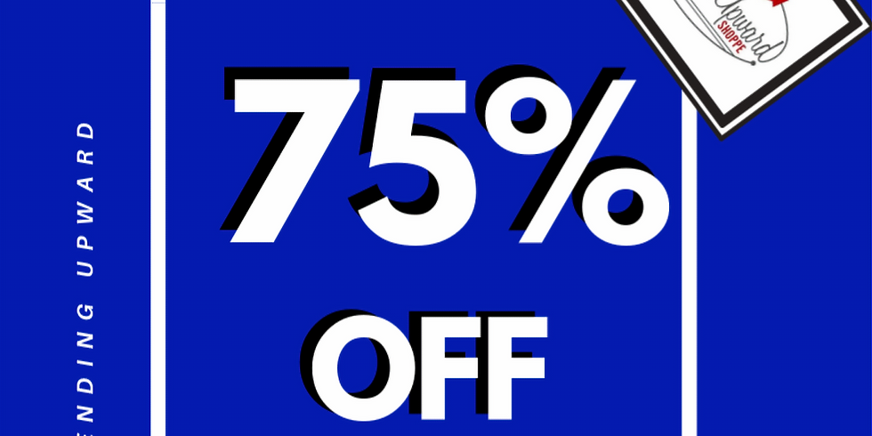 june 1-5 | 75% OFF BLUE tags