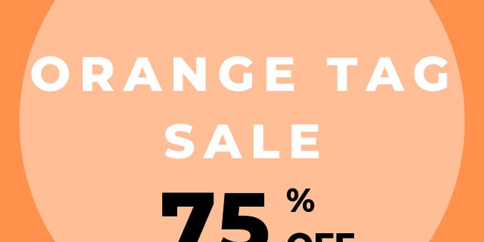 June 11-15  75% off Orange tags