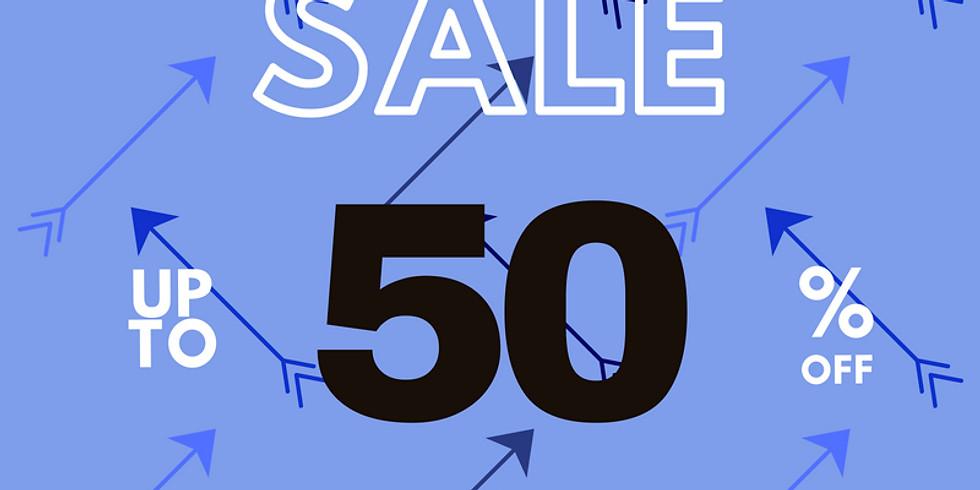 Dec. 5-8  50% off BLUE arrow items