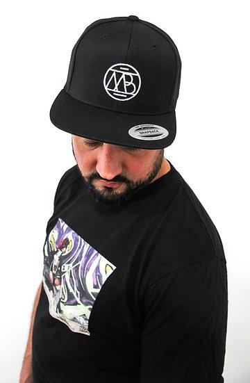 """MB Logo"" White Back Snapback Hat"
