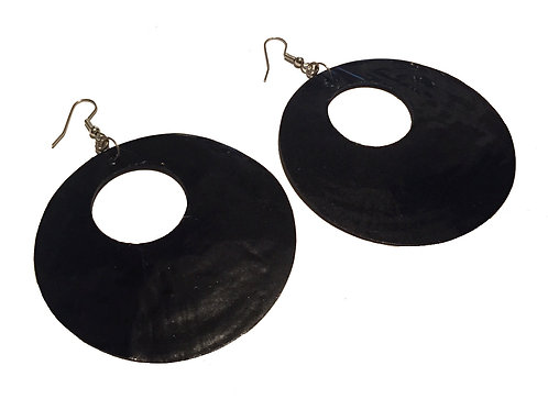 Oversized Retro Shell Earring
