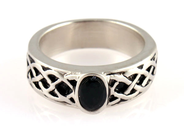 Celtic Silver Matte Ring