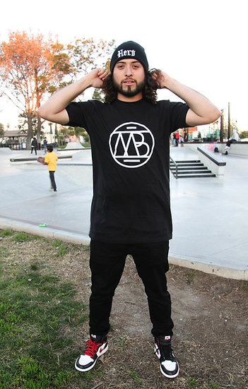 "UNISEX White ""MB Logo""Tall T-Shirt"