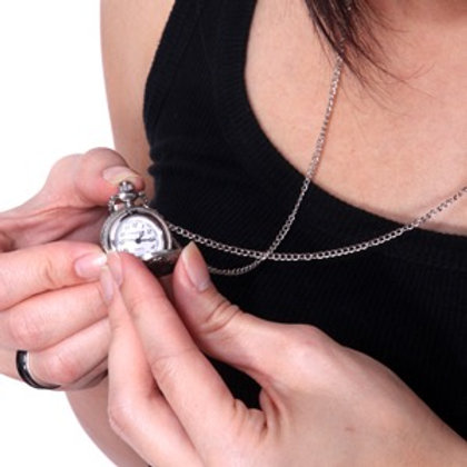 Silver Shiny Timepiece Necklace