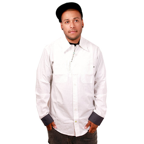 STISKA Slim Fit Collared Button Up Long Sleeve Shirt