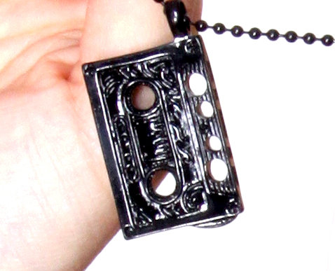 Shiny Murdered Out Cassette Ball Chain Necklace