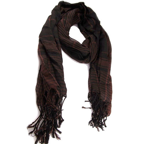 Ethnic Brown and Black Scarf