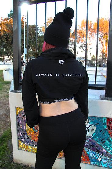 """""""Always Be Creating"""" Long Sleeve Short Crop"""