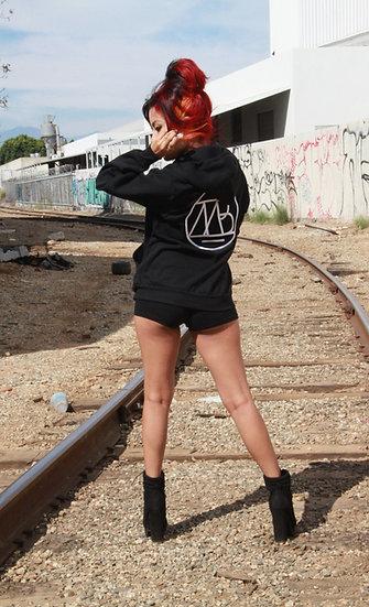 """EXCLUSIVE UNISEX Missy B """"MB Logo"""" - Zip Up Fleece Hoodie"""