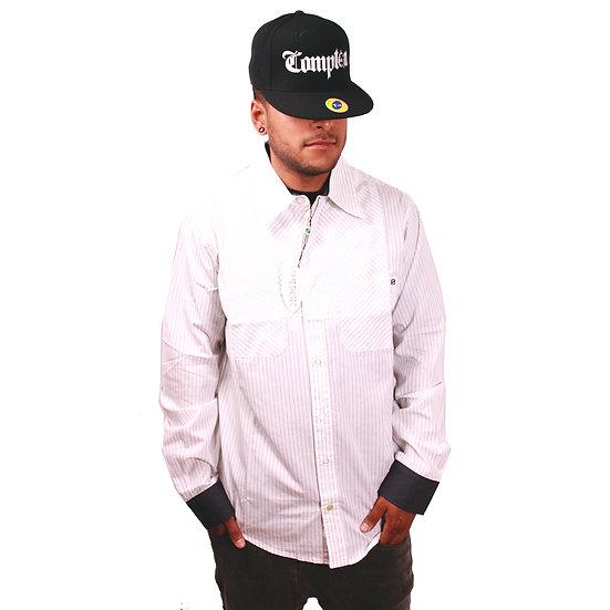 STISKA Slim Fit Collared Button Up Long Sleeve Shirt