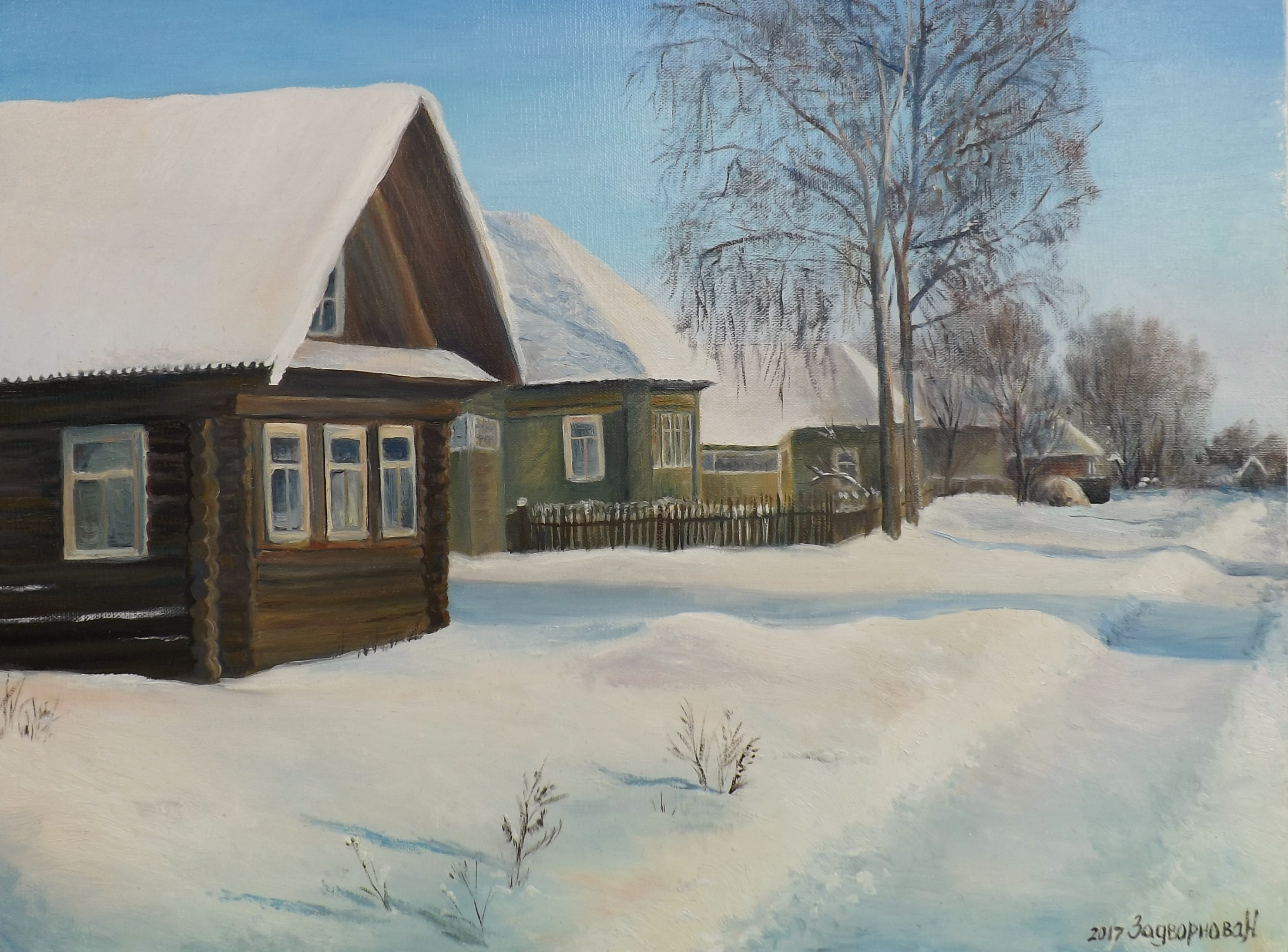 Зимняя улочка,30 х 40
