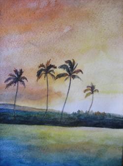 Закат на райском острове