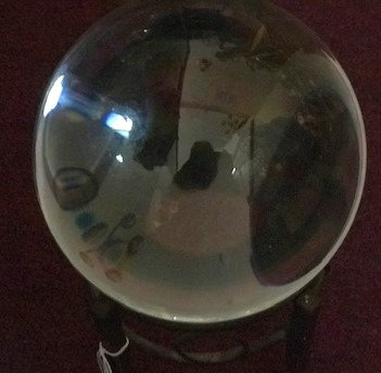 Large Glass Crystal Ball w/Stand