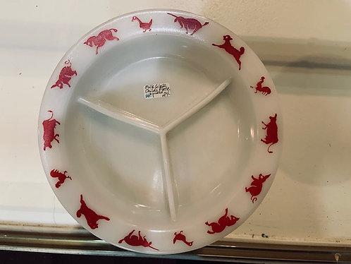 Milk Glass Child's Plate
