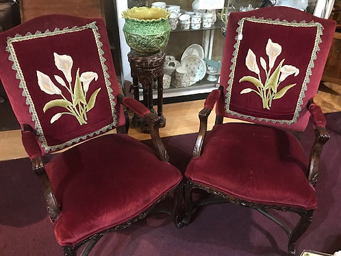 Velvet Canna Lily Chairs