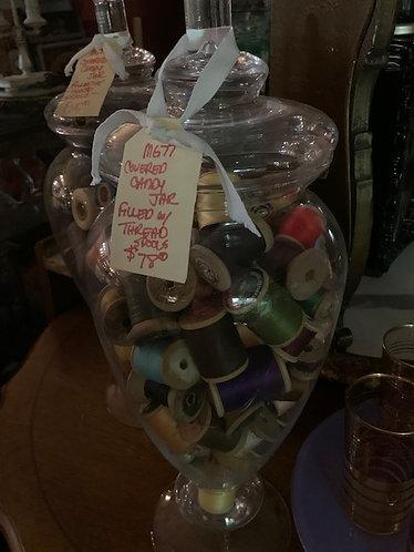 Candy Jar & Thread Spools