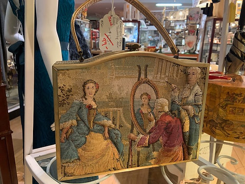 Gold Tapestry Box Purse