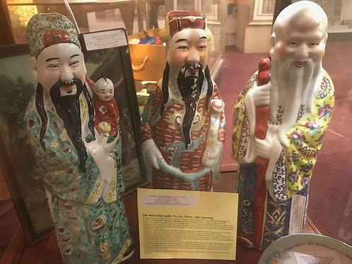 Porcelain Chinese Star Gods