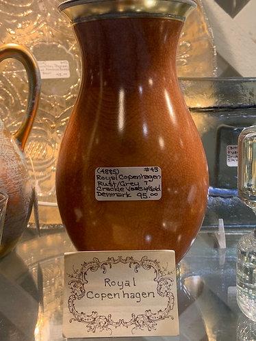 Royal Copenhagen Crackle Vase