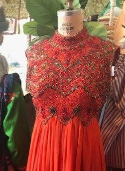 Orange Jeweled Dress