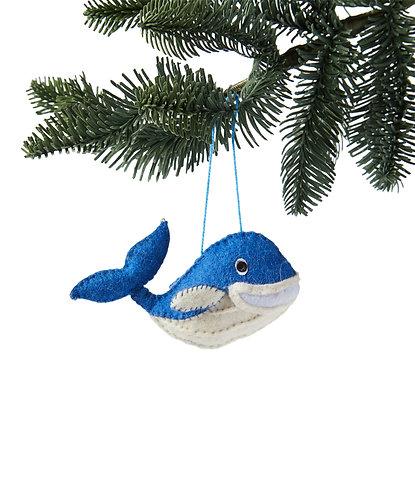 Blue Whale Ornament