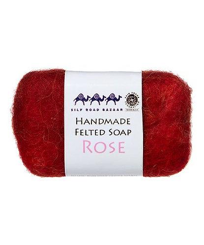 Rose Felted Soap