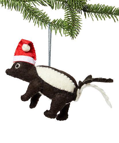 Holiday Skunk Ornament