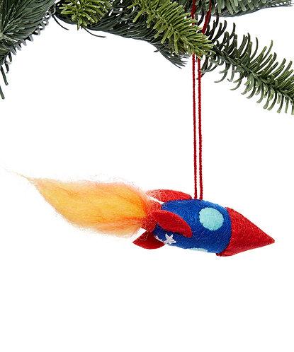 Blue Rocket Ornament