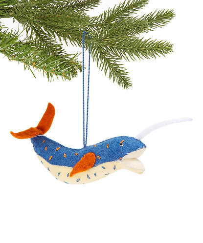 Narwhal Ornament
