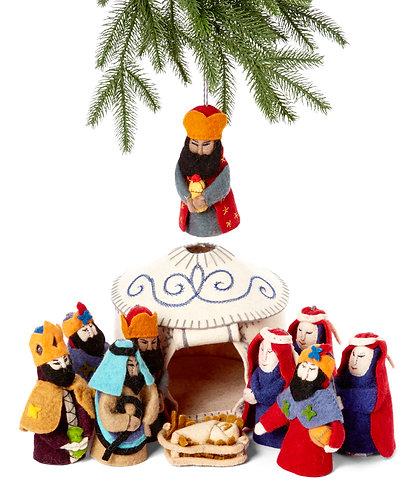 Large White Nativity Set