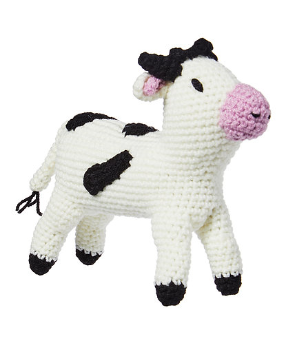 Knit Rattle, Cow