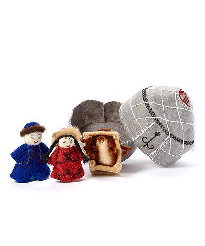Small Grey Nativity Set