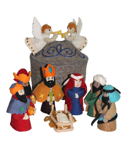 Large Grey Nativity Set