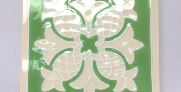 ハワイアンタイル(キルト緑)