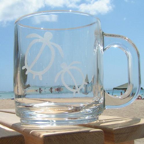 日付&イニシャル:ハワイ柄マグカップ(1個)