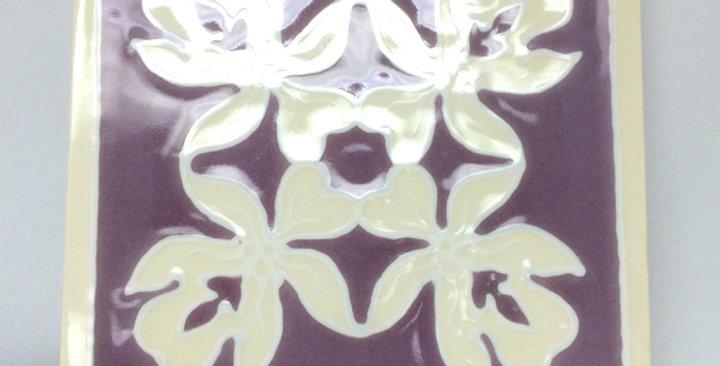 ハワイアンタイル(キルト紫)