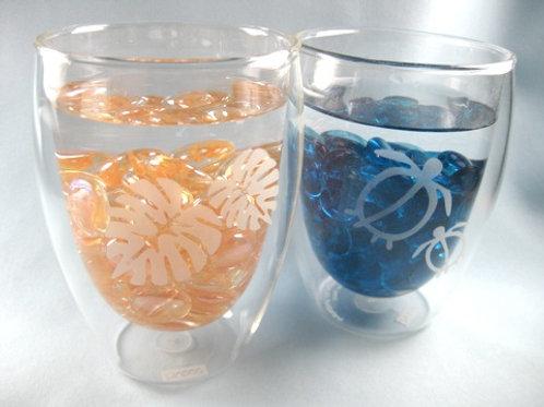 名入れ 海のイメージのボダムグラス