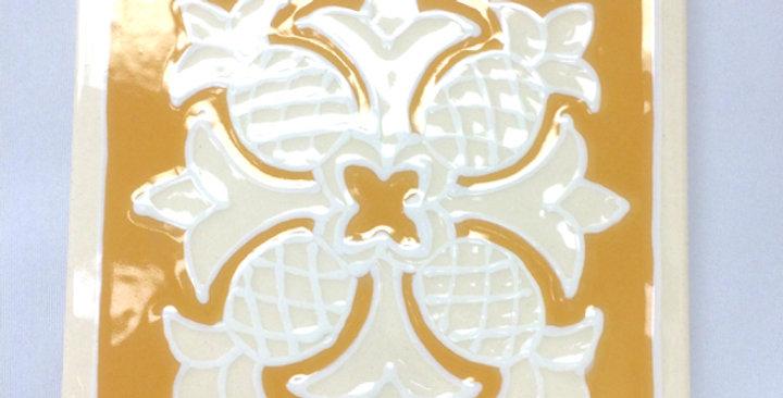 ハワイアンタイル(キルト黄色)