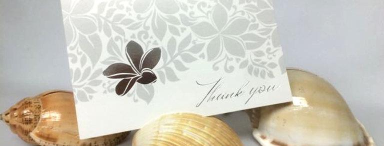 メッセージカードとシェルのカードホルダー(5セットアソート)