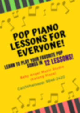 Copy of Pop piano lessons for  Everyone!