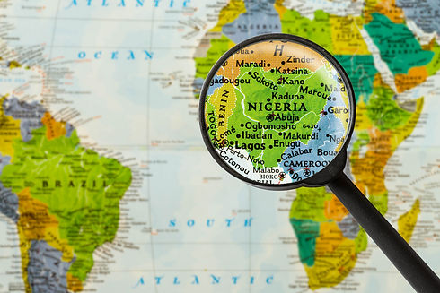 Map of Federal Republic of Nigeria throu