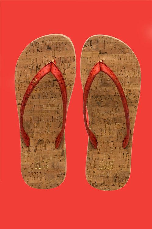 Fiesta cork flip-flops