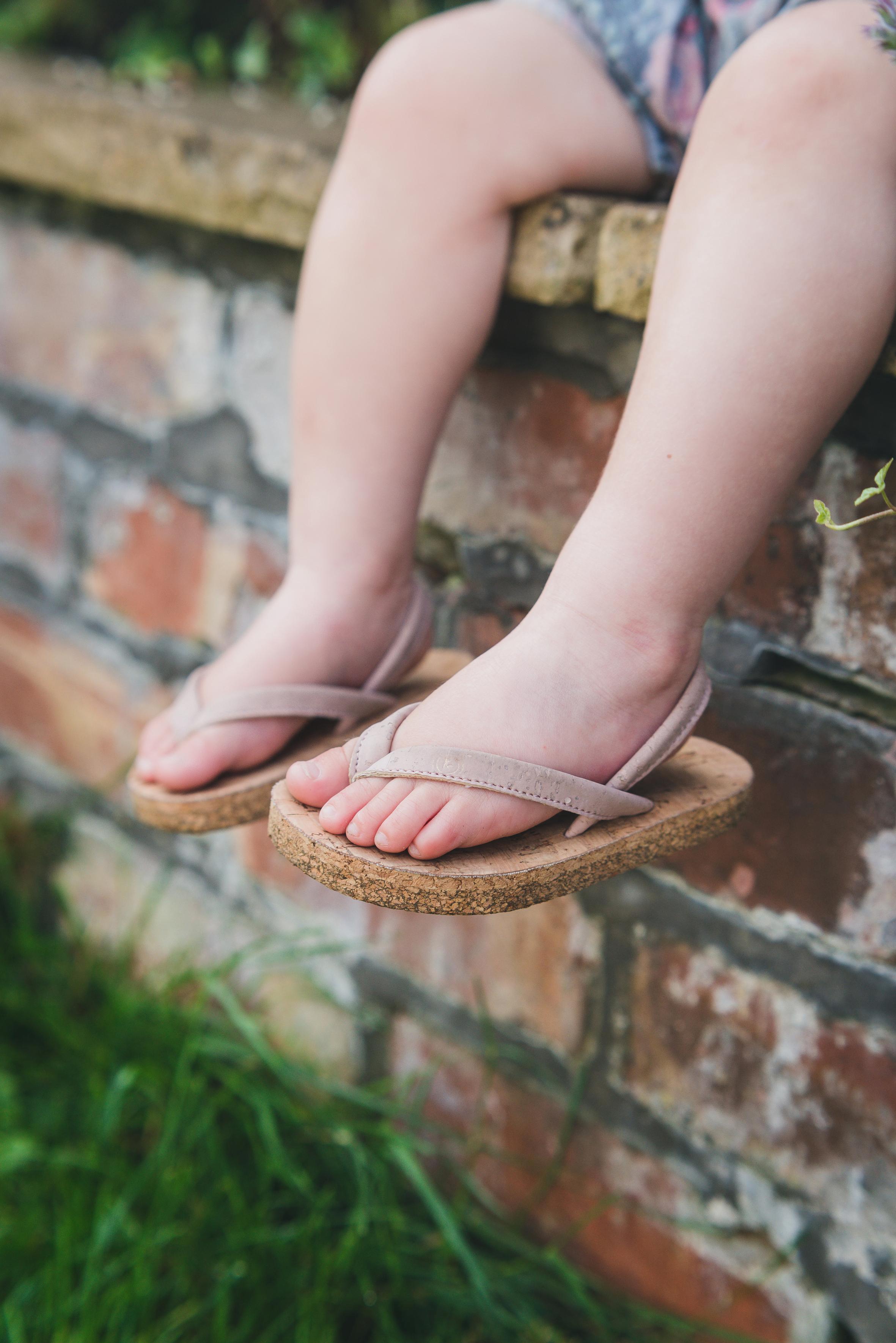 Kids Cork flip flops