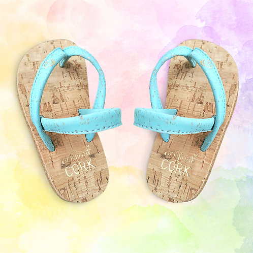 Island Blue cork sandals for the Little Ones