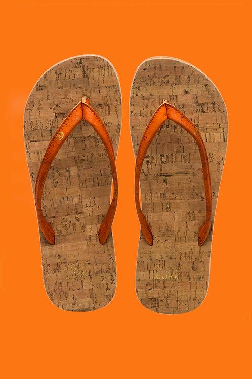 Flame cork flip flops