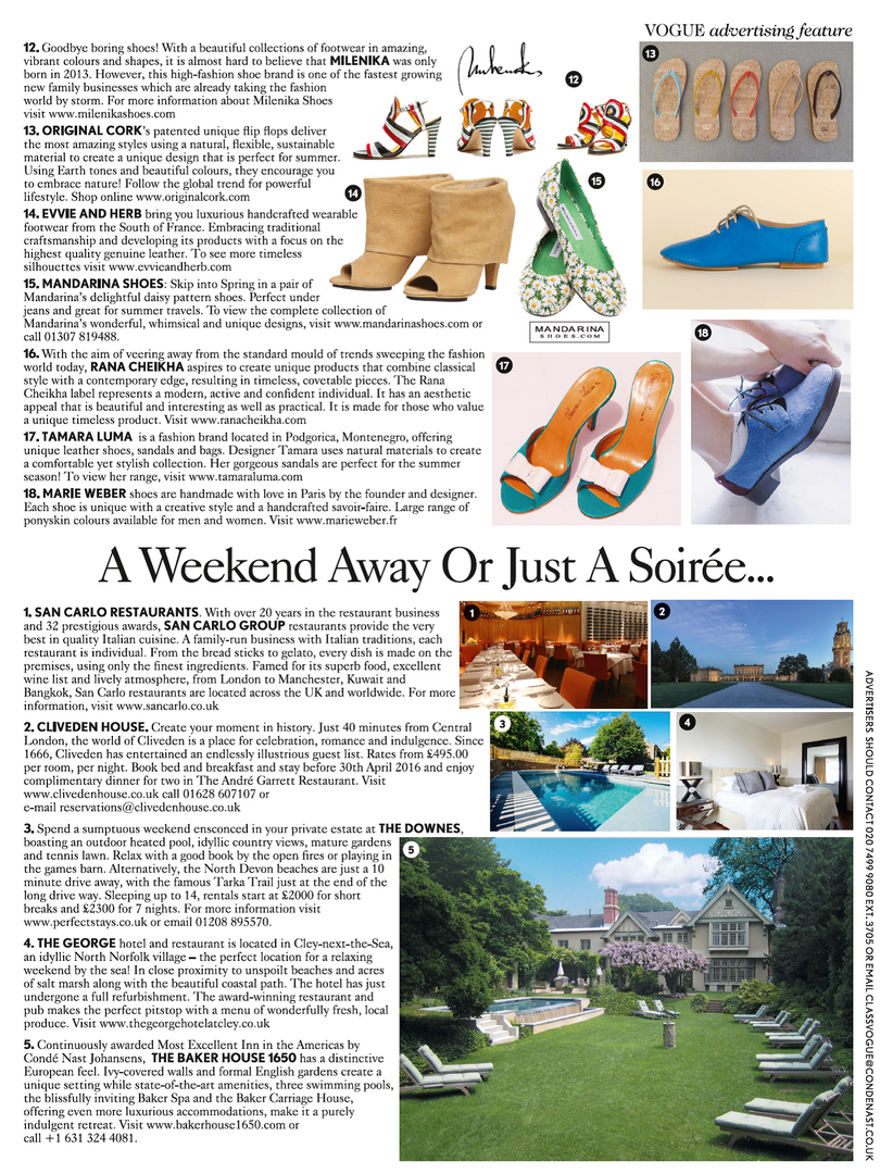 Vogue May 2016, A Weekend Away Or Just A