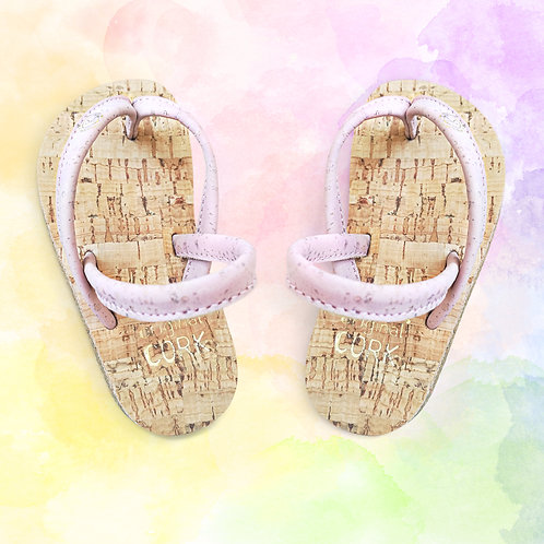Chick Pink cork sandals for the little Ones