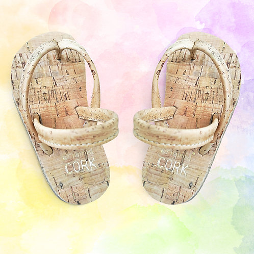Nature cork sandals for the Little Ones