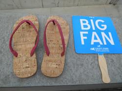 Cork flip flops big fan