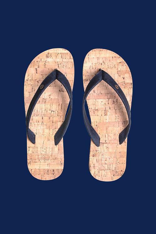 Sky Blue cork flip flops